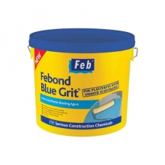 Everbuild FBBLUE10 Febond Blue Grit Plasterers Grip Coat Bonding Agent 10 Litre