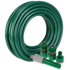 Evergreen GBH15F Garden Hosepipe Reinforced Green with Fittings 15 Metre