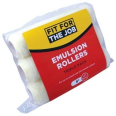 """Fit For The Job FFJ159TP Emulsion Roller Refills Polyester 9"""" x 1.5"""" Cage Pack of 3"""