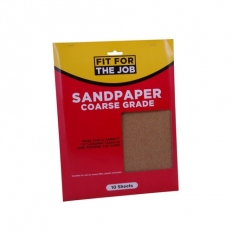Fit For The Job FFJASP10C Sandpaper Coarse Grade Grades Pack of 10