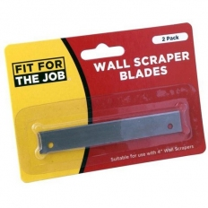 "Fit For The Job WSB2 Wall Scraper Blades 4"" Pack of 2"