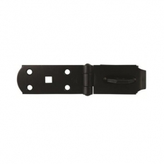 Sterling HS114BK Black Steel Hasp 114mm