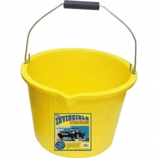 Invincible PB1004Y Invincible Extra Heavy Duty Yellow Builders Bucket 15 Litre
