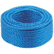 Kendon Rope and Twine ROPE820 Mini Coil of Blue Poly Rope 8mm x 20 Metre