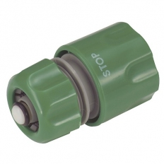 Kingfisher 605SNCP Female Water Stop Hose Connector Snap Action