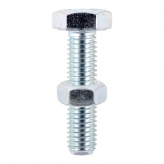 TIMco 1070SNZP Hex Set and Hex Nut BZP 10 x 70mm Bag of 2