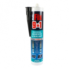 TIMco 247146 9in1 Universal Adhesive and Sealant Black 290ml
