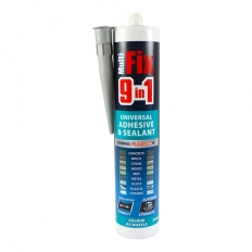 TIMco 247357 9in1 Universal Adhesive and Sealant Grey 290ml