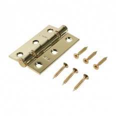 Veto 340843 Ball Bearing Hinge Steel Electro Brass 76 x 51mm Box of 1 Pair