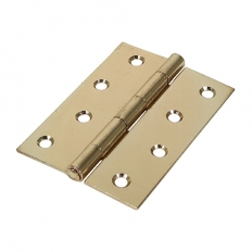 Veto 434167 1838 Butt Hinge Electro Brass 100 x 70mm Plain Bag of 1 Pair
