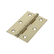 Veto 434456 1838 Butt Hinge Electro Brass 90 x 60mm Plain Bag of 1 Pair