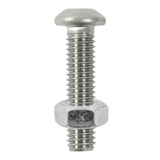 TIMco 612BUTSSP Button Socket and Nut A2 Stainless Steel M6 x 12mm Bag of 8