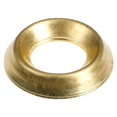 TIMco 6BCUPP Surface Cups Brass Finish To Fit 6mm Screw Bag of 60