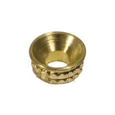 TIMco 725174 Knurled Brass Inset Screw Cups To fit 4.8, 5.0mm Screw TIMpac of 8