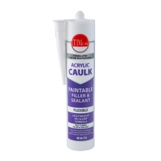 TIMco 732871 Acrylic Caulk Cartridge White 300ml