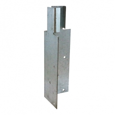 TIMco ARBM200 Arris Rail Mortice Bracket Hot Dipped Galvanised 200 x 62 x 62mm