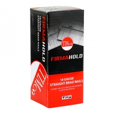 Firmahold BG1816 Plain Shank Brad Galvanised 18g x 16mm Box of 5000