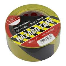 TIMco HAZT PVC Hazard Tape 33m x 50mm