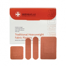 Reliance Medical MED2210 Heavyweight Fabric Plasters Assorted Box of 100