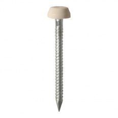 TIMco PP25BEIGE Polymer Headed Pin Beige 25mm Box of 250