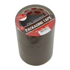 TIMco PTB Packaging Tape Brown 50m x 48mm Pack of 3