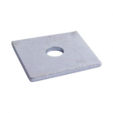 TIMco WS8403Z Square Plate Washer BZP M8 x 40 x 40 x 3mm Box of 100