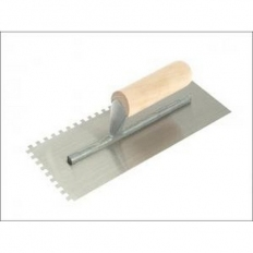 "RST RTR62576 Square Notched 6mm Trowel Wooden Handle 11"" x 4.1/2"""