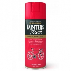 Rust-Oleum AE0040005E8 Painters Touch Cherry Red Gloss Multi Purpose Spray Paint 400ml
