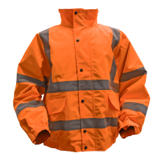 Sealey 802XLO Hi-Vis Orange Jacket with Quilted Lining & Elasticated Waist - X-Large
