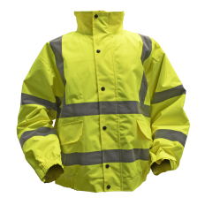 Sealey 802XL Hi-Vis Yellow Jacket with Quilted Lining & Elasticated Waist - X-Large
