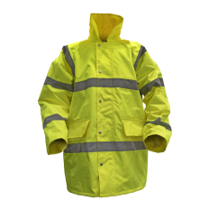 Sealey 806L Hi-Vis Yellow Motorway Jacket with Quilted Lining - Large