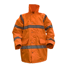 Sealey 806XLO Hi-Vis Orange Motorway Jacket with Quilted Lining - X-Large