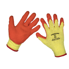 Sealey 9121XL Super Grip Knitted Gloves Latex Palm (X-Large) - Pair