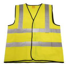 Sealey 9804L Hi-Vis Waistcoat (Site and Road Use) Yellow - Large