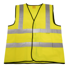 Sealey 9804XL Hi-Vis Waistcoat (Site and Road Use) Yellow - X-Large