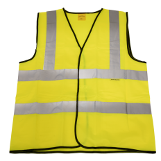 Sealey 9804XXL Hi-Vis Waistcoat (Site and Road Use) Yellow - XX-Large