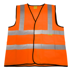 Sealey 9812l Hi-Vis Orange Waistcoat (Site and Road Use) - Large