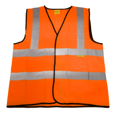 Sealey 9812M Hi-Vis Orange Waistcoat (Site and Road Use) - Medium