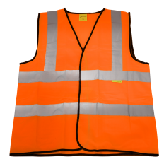 Sealey 9812XL Hi-Vis Orange Waistcoat (Site and Road Use) - X-Large