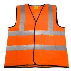 Sealey 9812XXL Hi-Vis Orange Waistcoat (Site and Road Use) - XXLarge