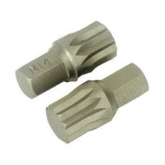 Sealey AK5532 M14 x 30mm Spline Bit Pack of 2