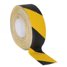 Sealey ANTBY18 Anti-Slip Tape Self-Adhesive Black Yellow 50mm x 18 Metre