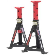 Sealey AS3R Axle Stands (Pair) 3tonne Capacity per Stand - Red