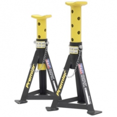Sealey AS3Y Axle Stands (Pair) 3tonne Capacity per Stand Yellow