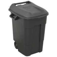 Sealey BM100 Refuse/Wheelie Bin 100ltr - Black