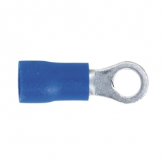 Sealey BT24 Easy-Entry Ring Terminal 4.3mm (4BA) Blue Pack of 100