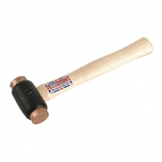 Sealey CFH02 1.75lb Copper Faced Hammer with Hickory Shaft