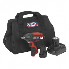 "Sealey CP1204KIT 12V Impact Wrench Kit 3/8""Sq Drive - 2 Batteries"