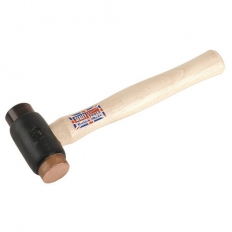 Sealey CRF25 2.25lb Copper/Rawhide Faced Hammer with Hickory Shaft