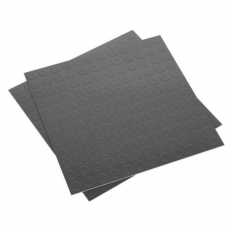 Sealey FT2S Vinyl Floor Tile with Peel & Stick Backing - Silver Coin Pack of 16